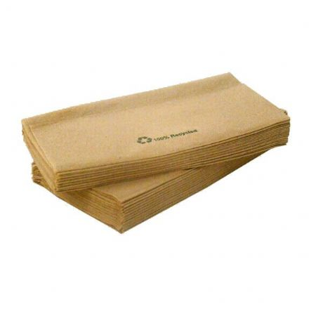 1 Ply Recycled Paper Napkins - 1000 Pack